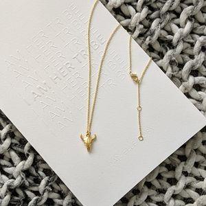 Boho Skull Gold-Plated Necklace